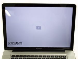 MacBook zeigt fragezeichen