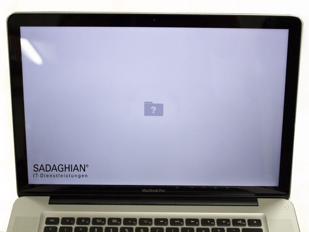 Dein Mac zeigt einen Ordner mit Fragezeichen?