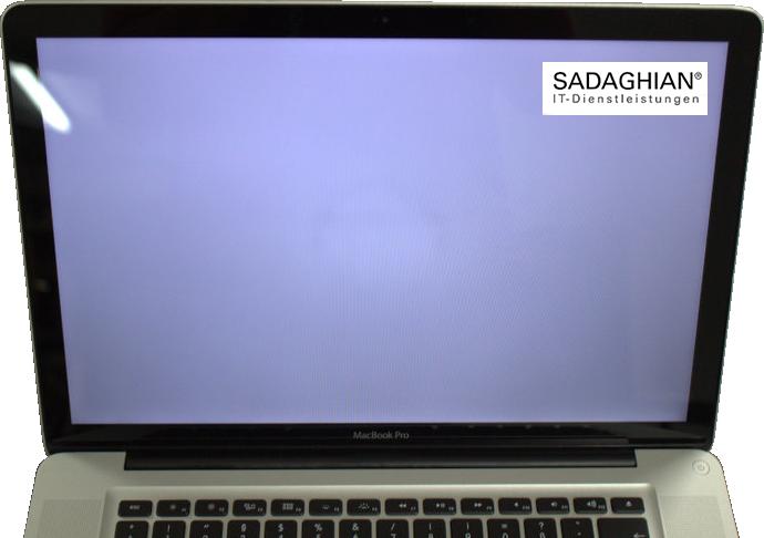 MacBook zeigt nur einen weißen Bildschirm