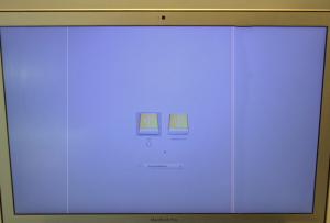 Bildschirm mit Streifen