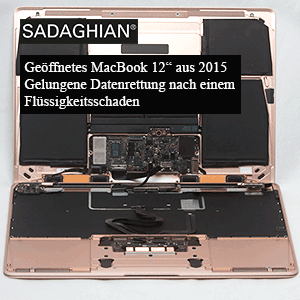 MacBook 12″ 2015 Wasserschaden – Datenrettung