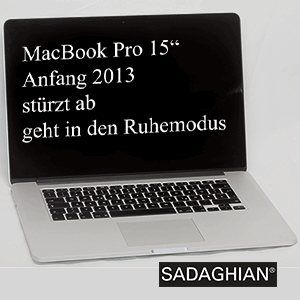MBP 15″ early 2013 zeigt black Screen
