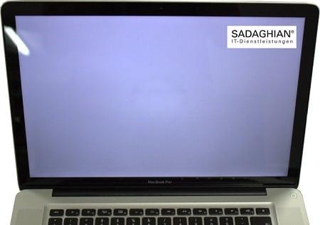 MacBook Weiß Bildschirm