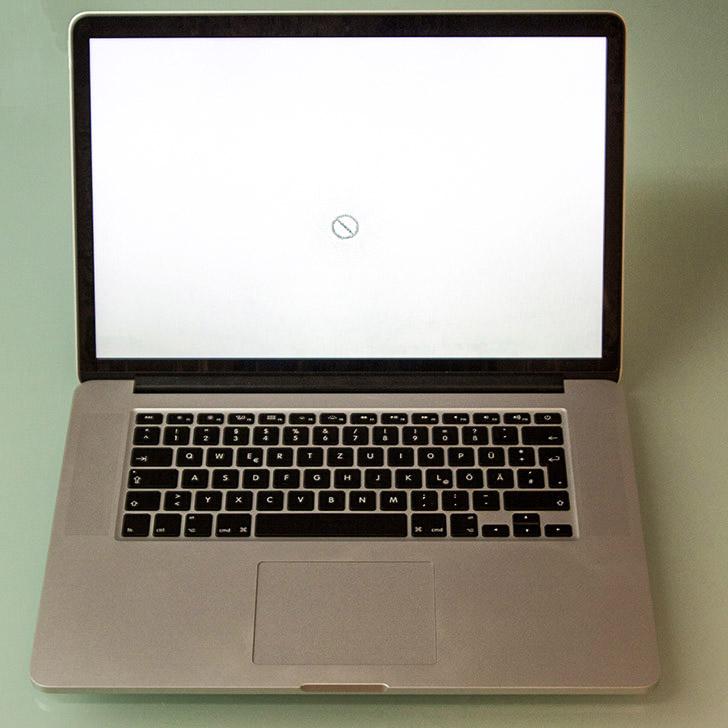 Ihr MacBook Display startet nicht, fährt nicht richtig hoch oder hängt sich beim Hochfahren auf. Das Display bleibt hell und/oder zeigt einen Fehler