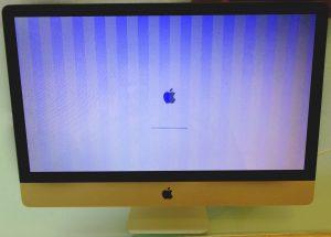 Ein iMac-Display flimmert und flackert aufgrund eines Grafikfehlers