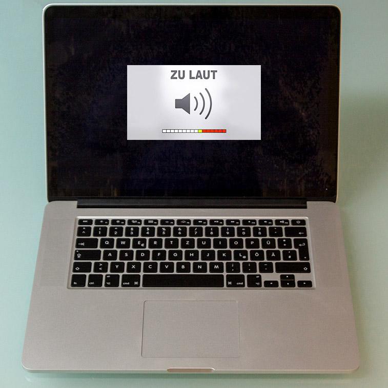 Die Lüfter Ihres MacBook laufen permanent und sind laut