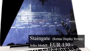 MacBook Retina Rettung – Staingate Beschichtung entfernen