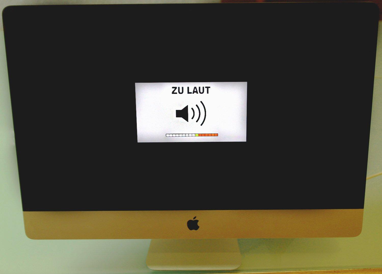 Ein iMac beim fehlerhaften Booten – verbunden mit lauten Lüfter-Geräuschen