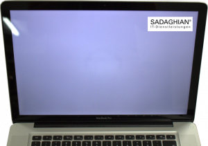 Mac zeigt weißen Bildschirm