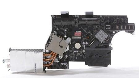 Apple iMac 21,5 Zoll - Late 2011 - A1311 Logicboard CPU Vorne