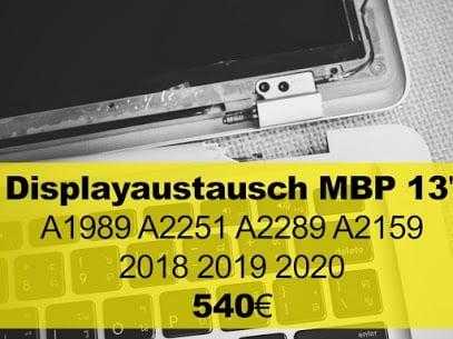 Displayaustausch MacBook 13 Zoll 2018 2019 2020