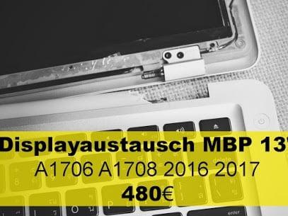 Displayaustausch MacBook Pro 13 Zoll 2016 2017