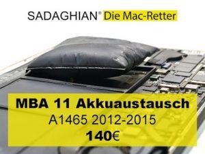 MacBook 11 Akkuaustausch 2012 2015