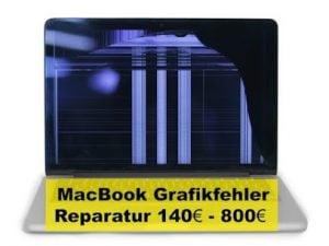 MacBook Grafikfehler Reparatur 140 - 800 Euro